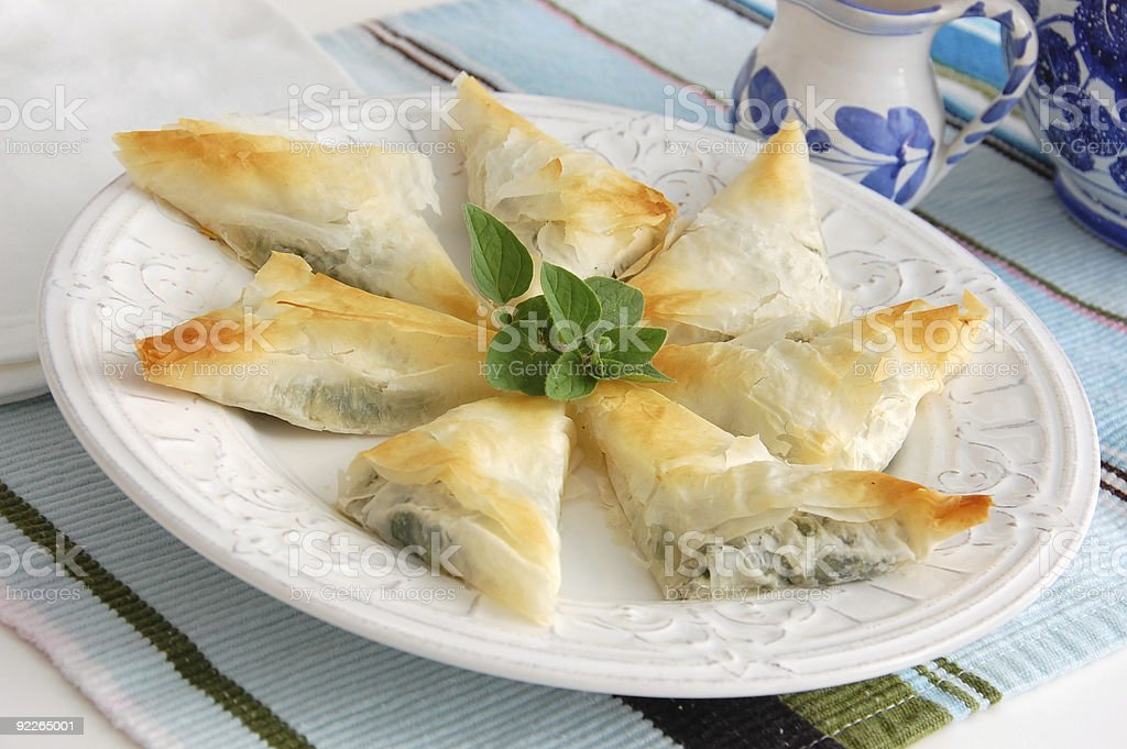 Spanakopita stock photo