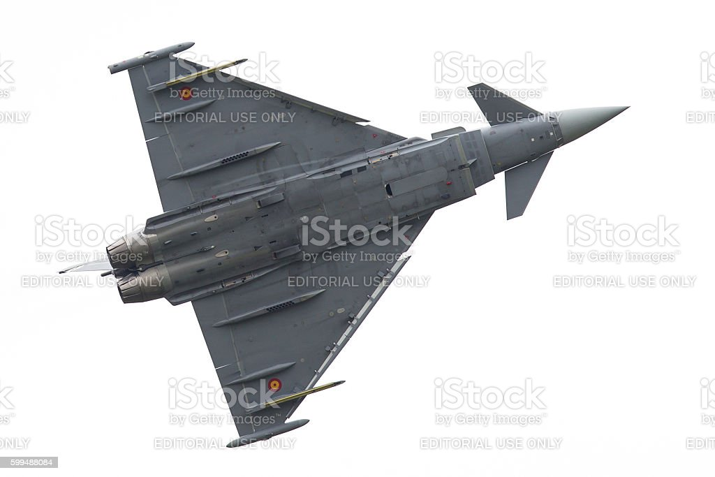 Spanish Air Force Eurofighter stock photo