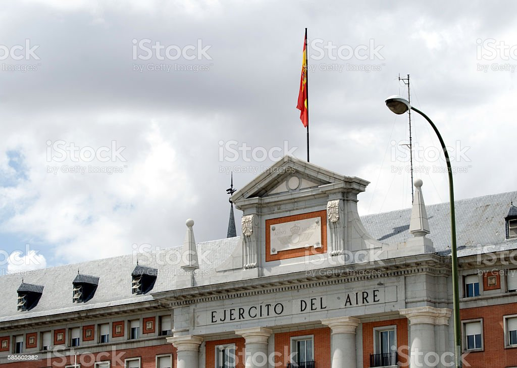 Spanish Air Force headquarters. stock photo