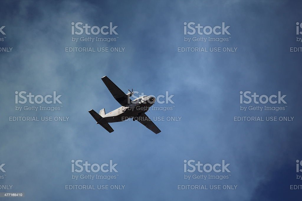 Spanish Air Force on Hispanic Day stock photo
