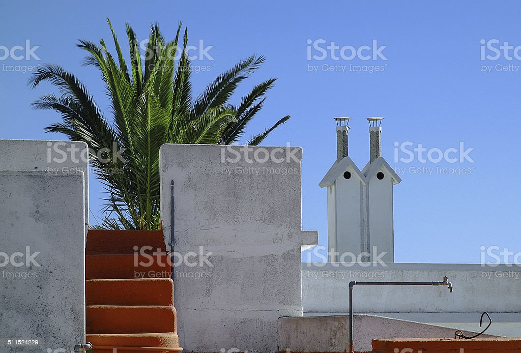 Spanish architectural impression royalty-free stock photo