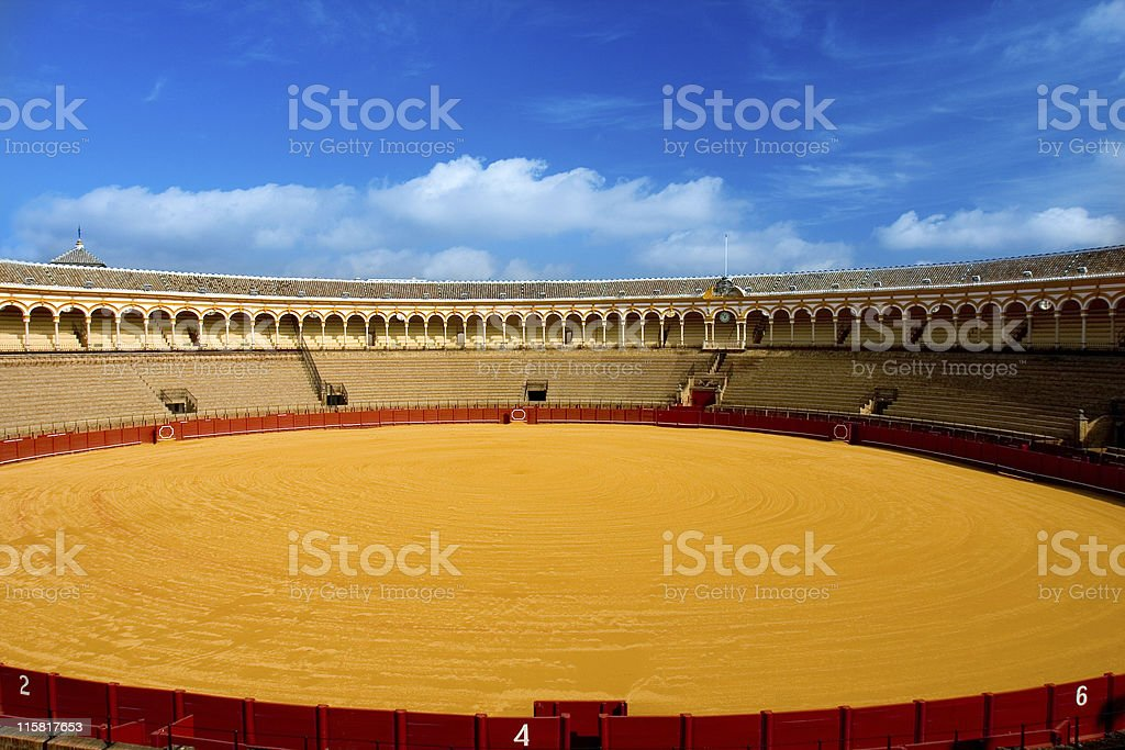 spanish arena stock photo