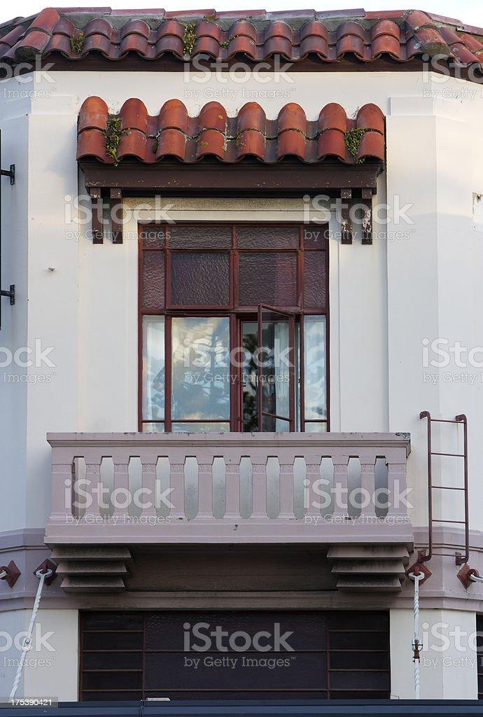 Spanish Art Deco Window Balcony stock photo