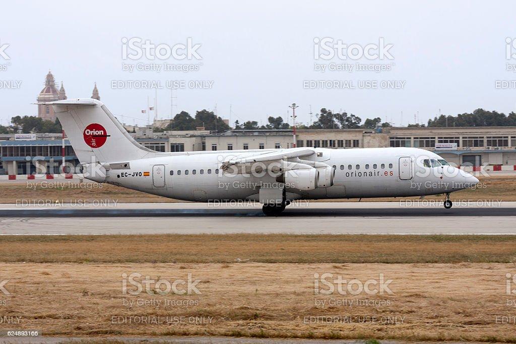 Spanish Bae 146 Touching Down stock photo