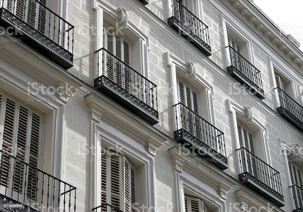 Spanish  balconies royalty-free stock photo