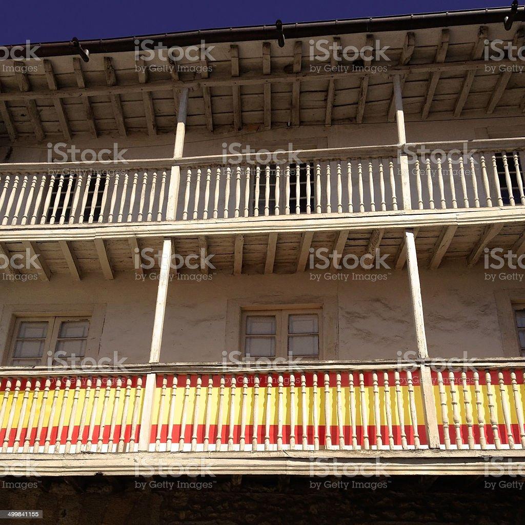 Spanish balconies stock photo