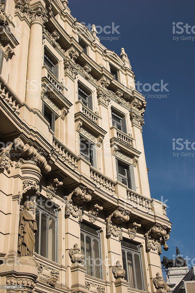 Spanish bank building stock photo