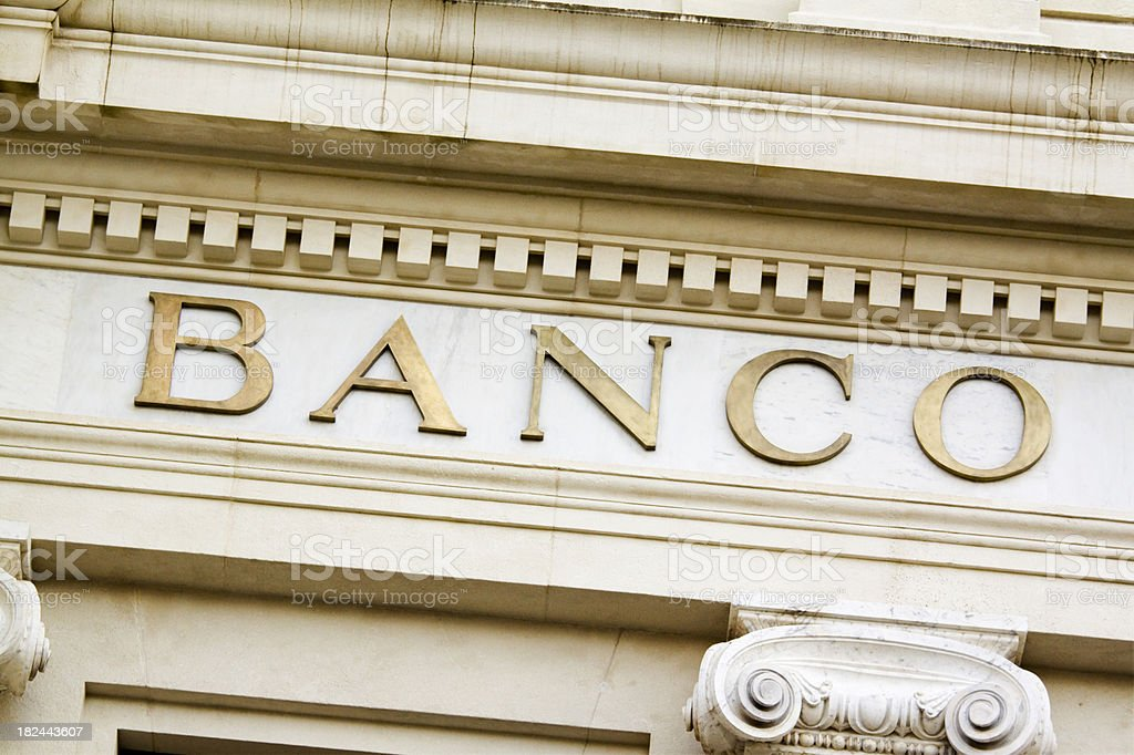 Spanish Bank stock photo