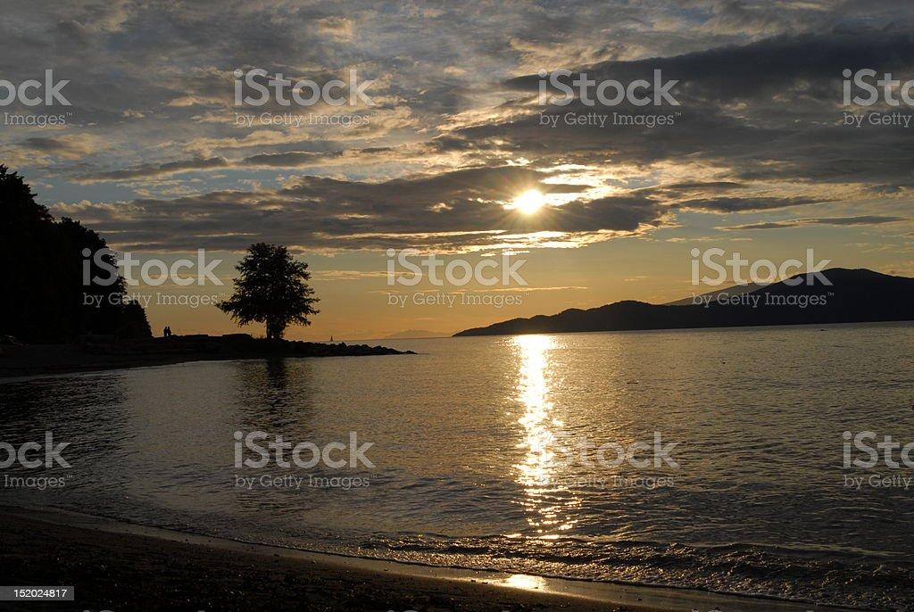 Spanish Banks sunset stock photo