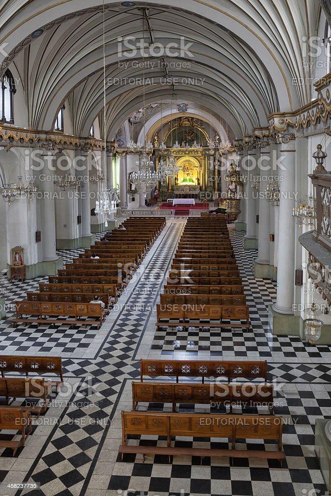 Spanish Baroque Iglesia de Santo Domingo, Peru royalty-free stock photo