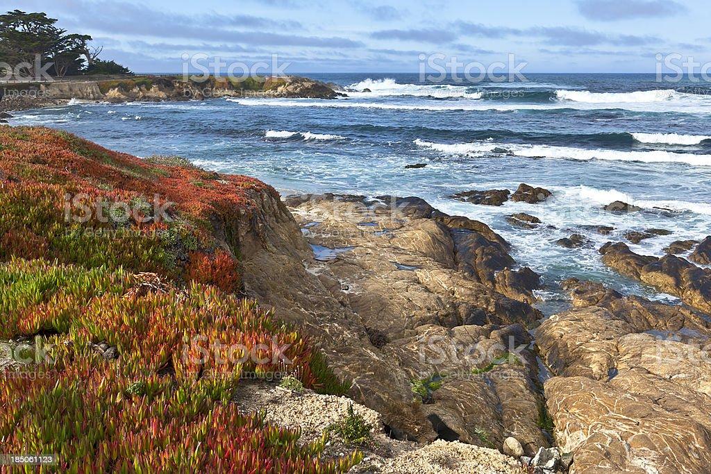 Spanish Bay, Monterey Peninsula stock photo