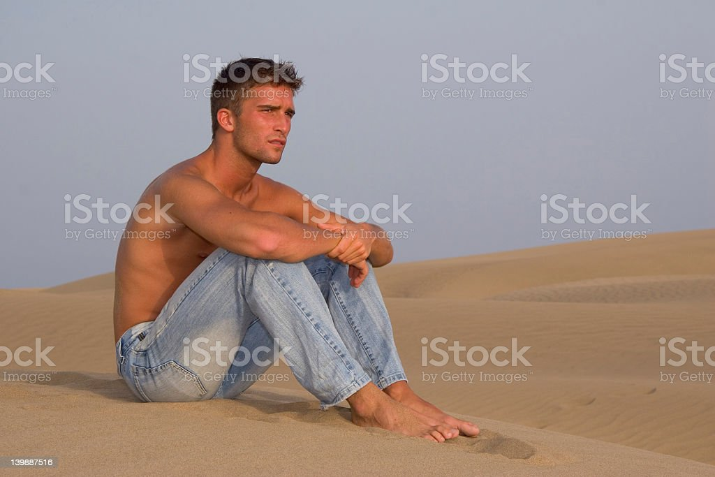 Spanish Beach Guy Part Four royalty-free stock photo