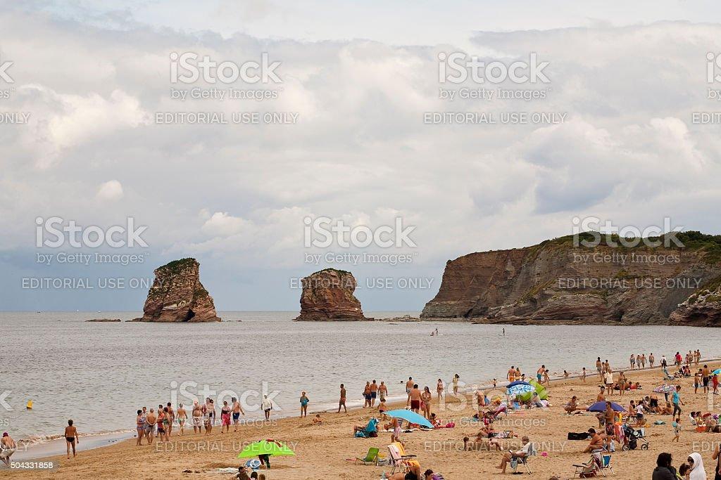 Spanish Border with France stock photo