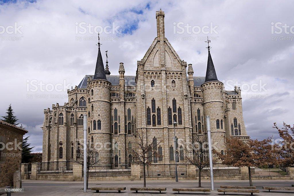 Spanish building, Astorga,Leon. Spain royalty-free stock photo
