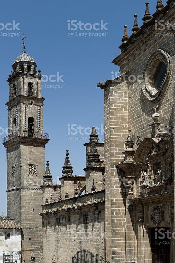 Spanish building. Cadiz stock photo