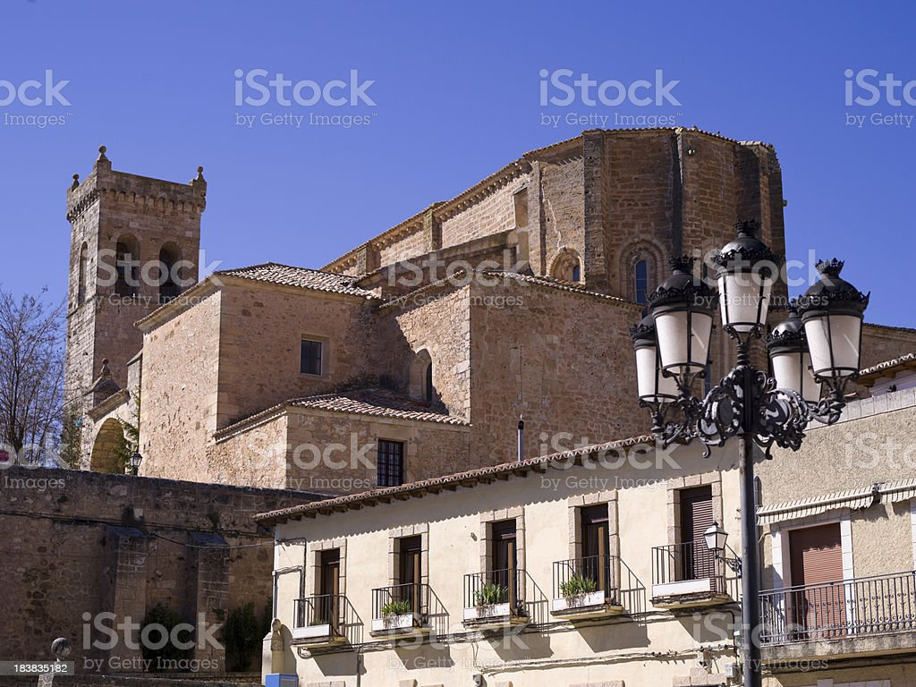 Spanish building. Guadalajara royalty-free stock photo