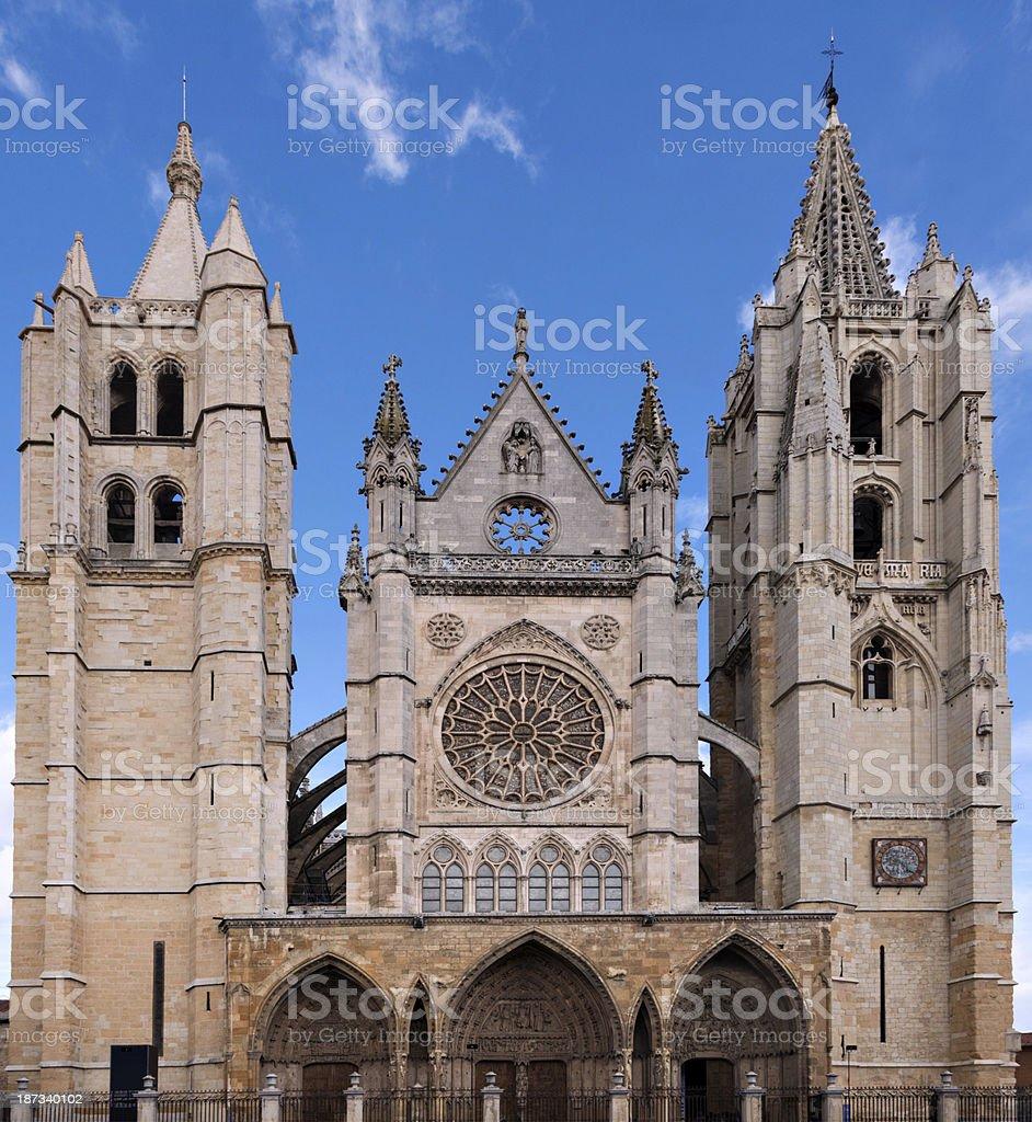 Spanish building. Leon stock photo