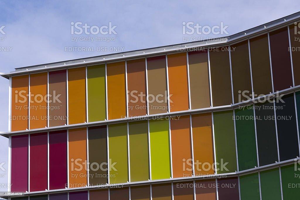 Spanish building, Leon, Spain stock photo