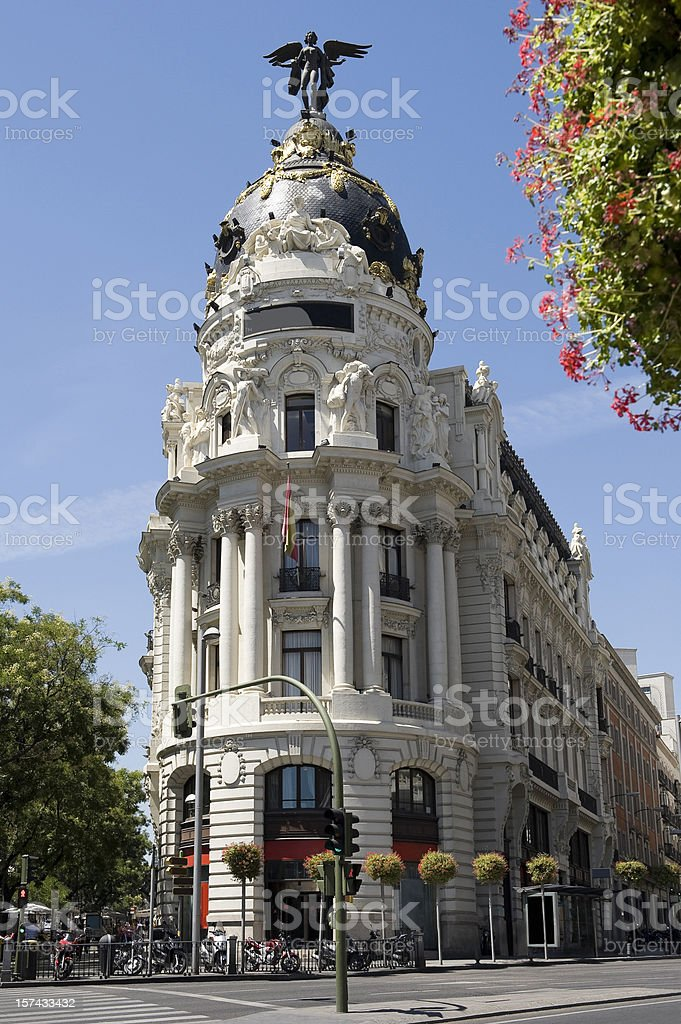 Spanish building. Madrid stock photo