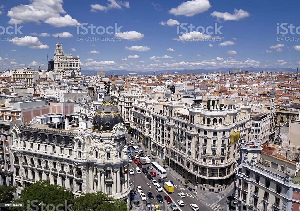 Spanish building. Madrid stock photo