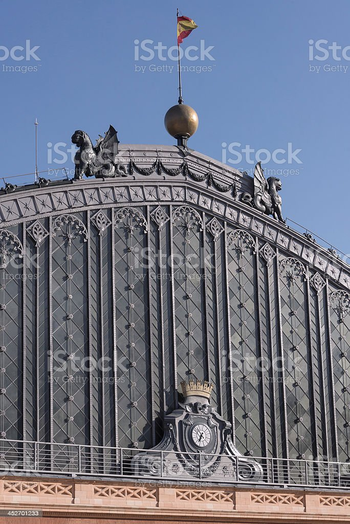 Spanish building, Madrid royalty-free stock photo
