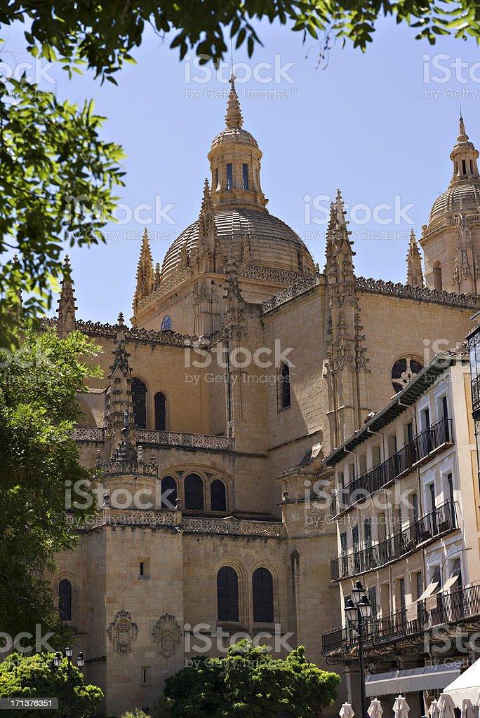 Spanish building. Segovia royalty-free stock photo