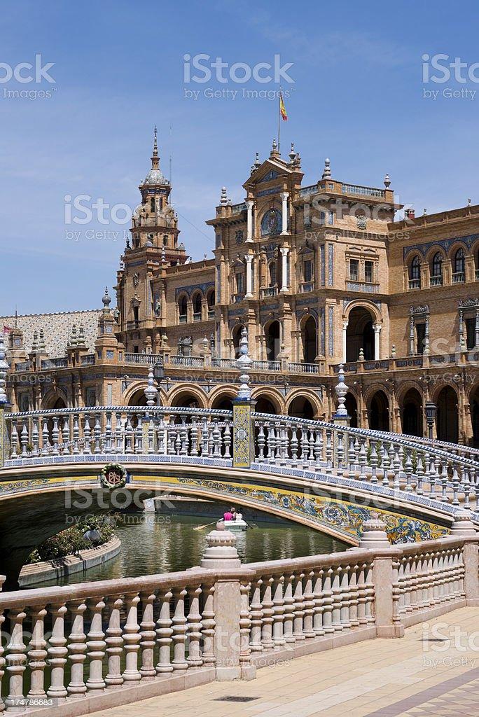 Spanish building. Sevilla royalty-free stock photo