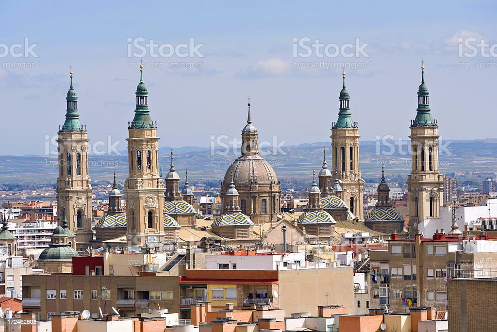 Spanish building. Zaragoza. Spain royalty-free stock photo