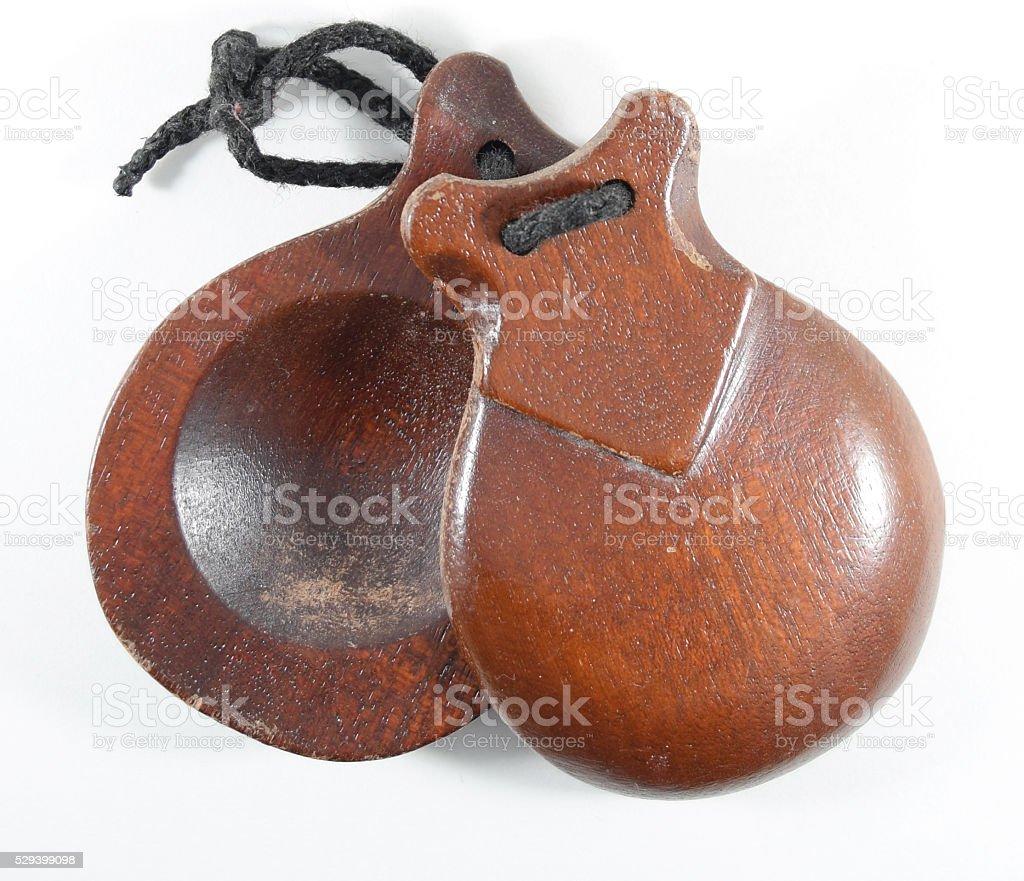 Spanish castanets stock photo