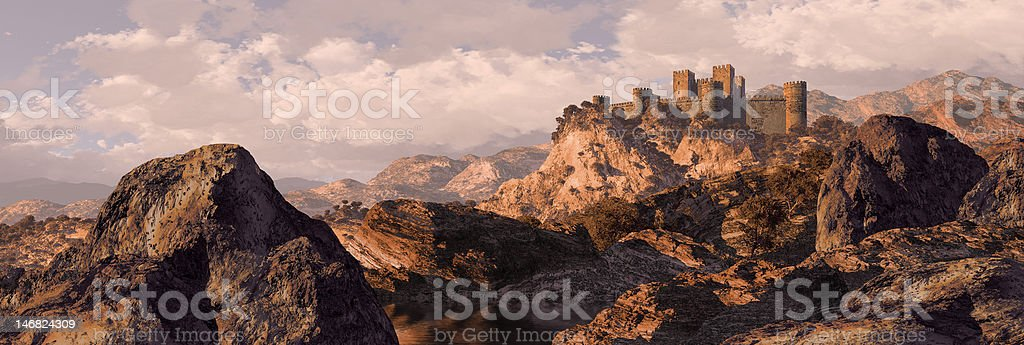 Spanish Castle Fortress stock photo