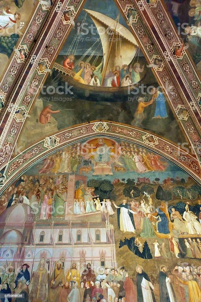 Spanish Chapel of Santa Maria Novella, Florence stock photo