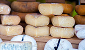 Spanish cheese in market