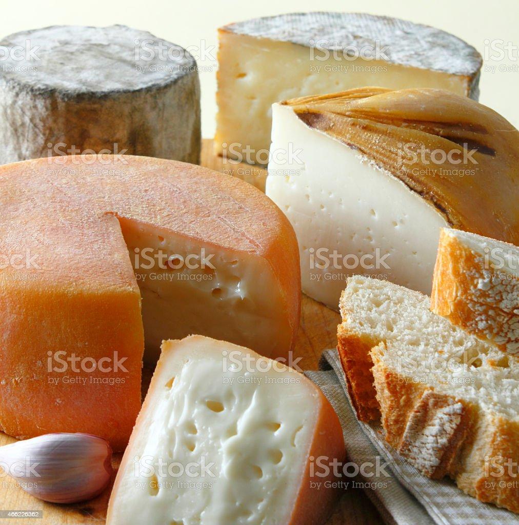 Spanish cheese stock photo