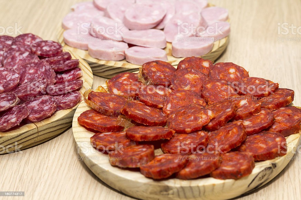 Spanish chorizo royalty-free stock photo