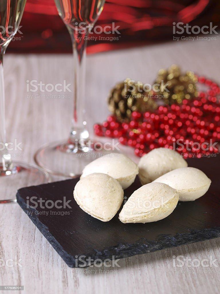 Spanish Christmas sweets. royalty-free stock photo