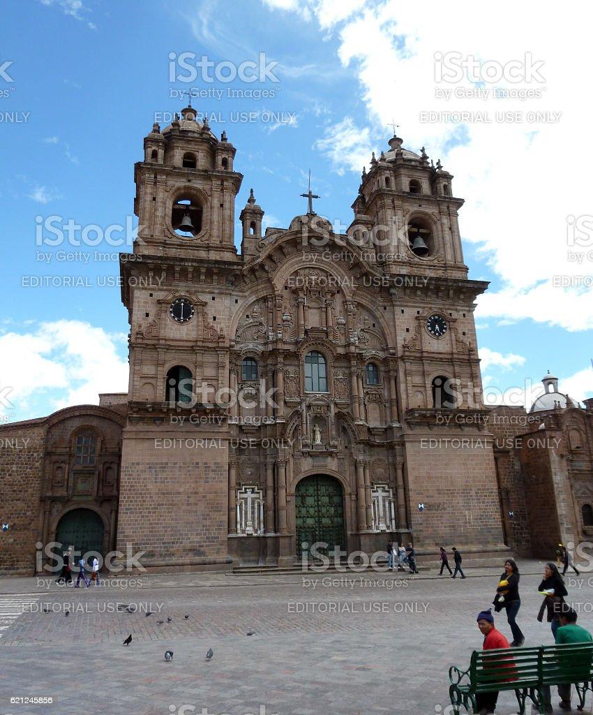 Spanish Church of the Society of Jesus in Cusco stock photo