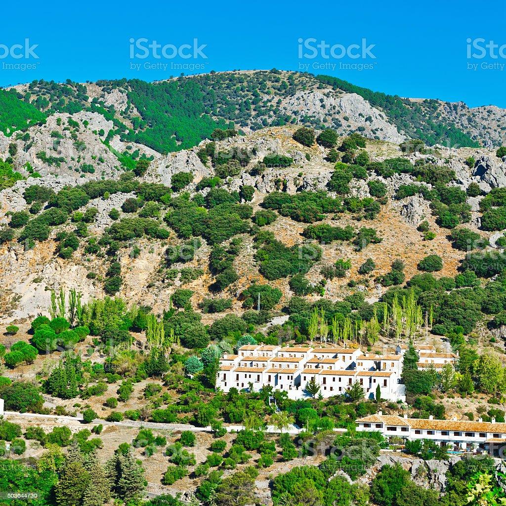 Spanish City of Grazalema stock photo
