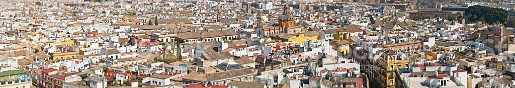 Spanish cityscape rooftop panorama royalty-free stock photo