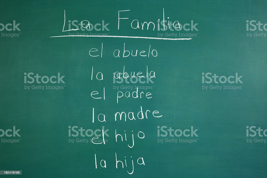 Spanish Class royalty-free stock photo