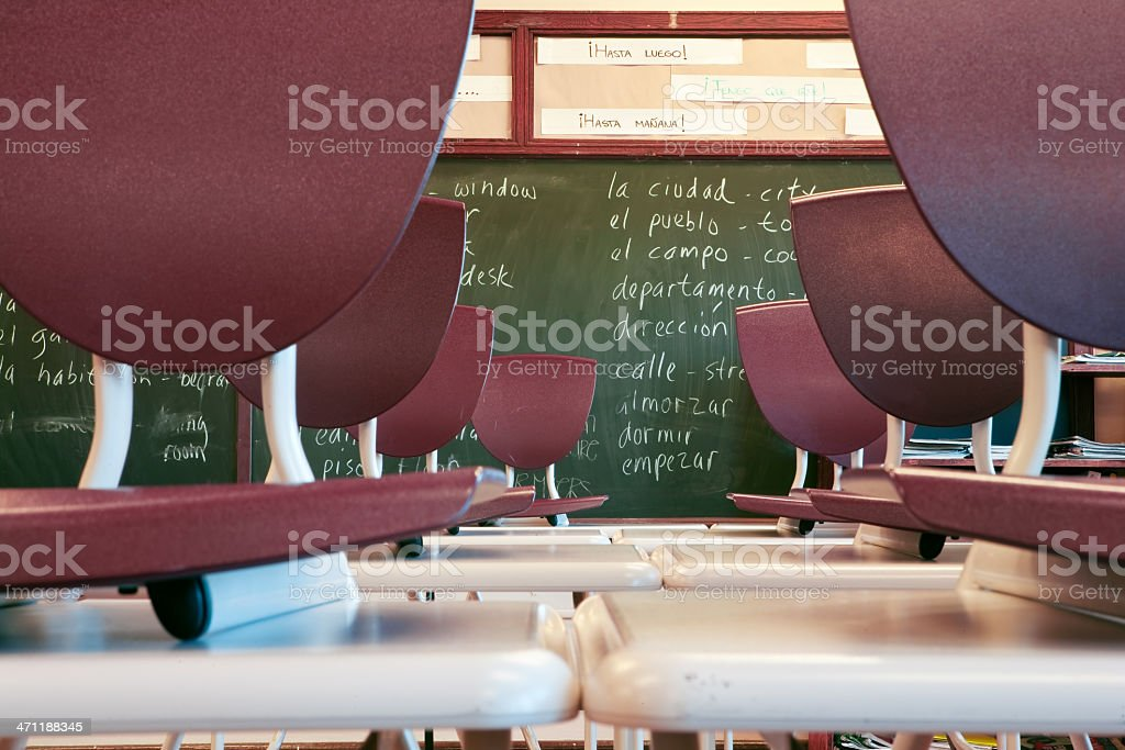 Spanish Classroom stock photo