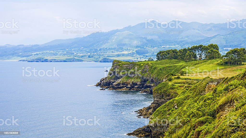Spanish coast stock photo