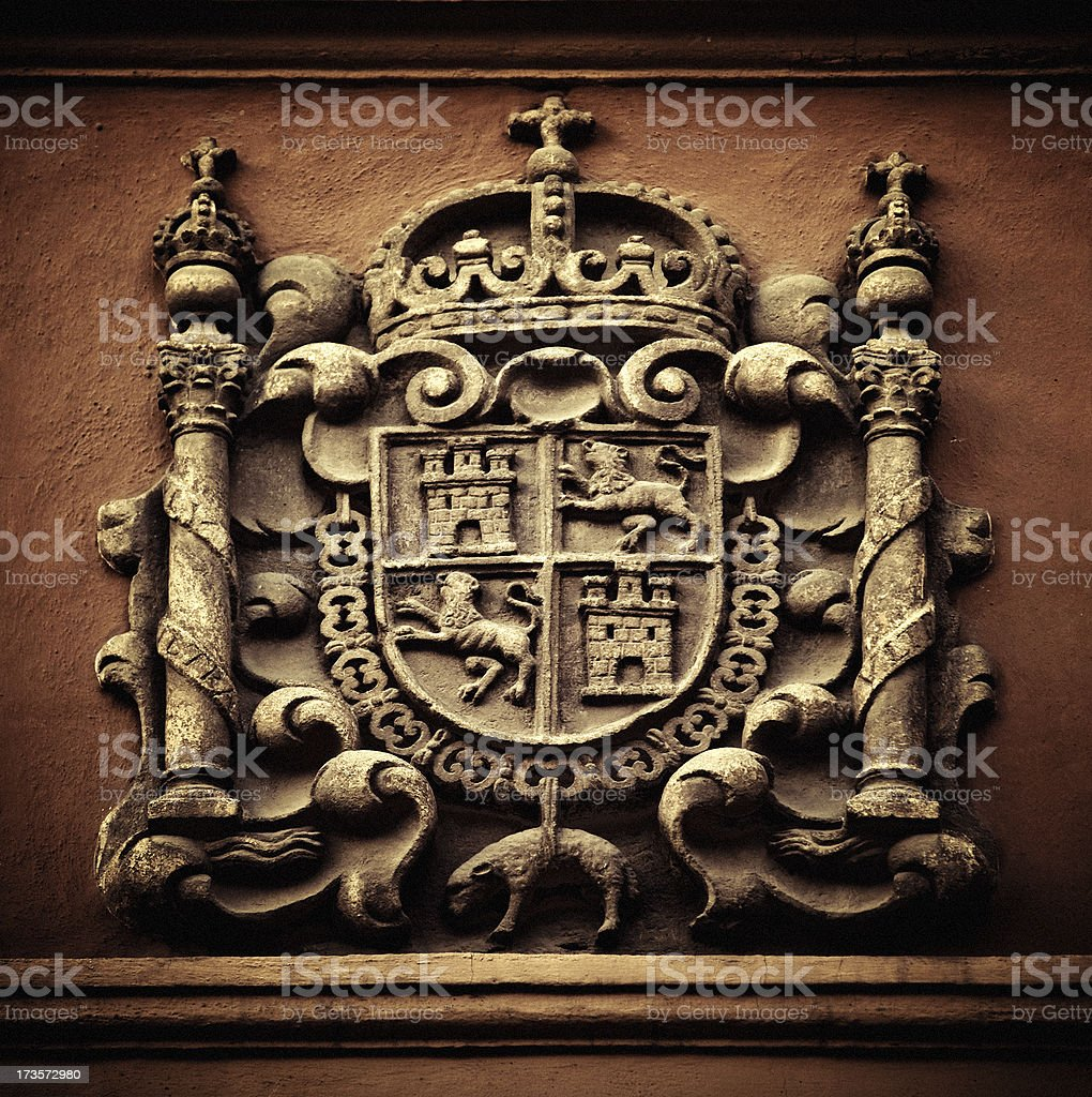 spanish coats of arms royalty-free stock photo