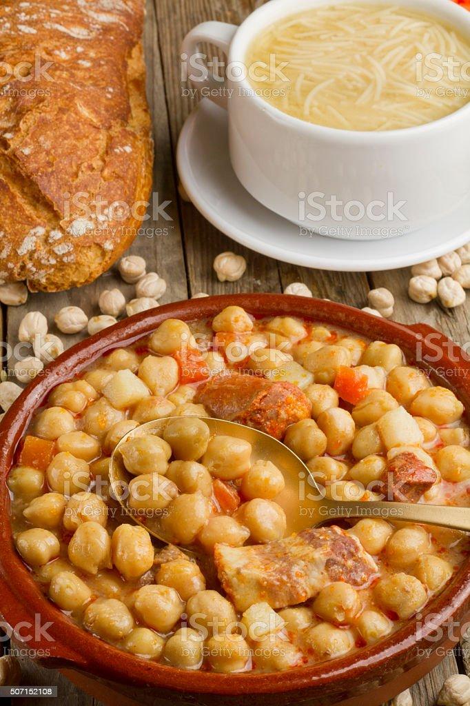 Spanish Cocido stock photo