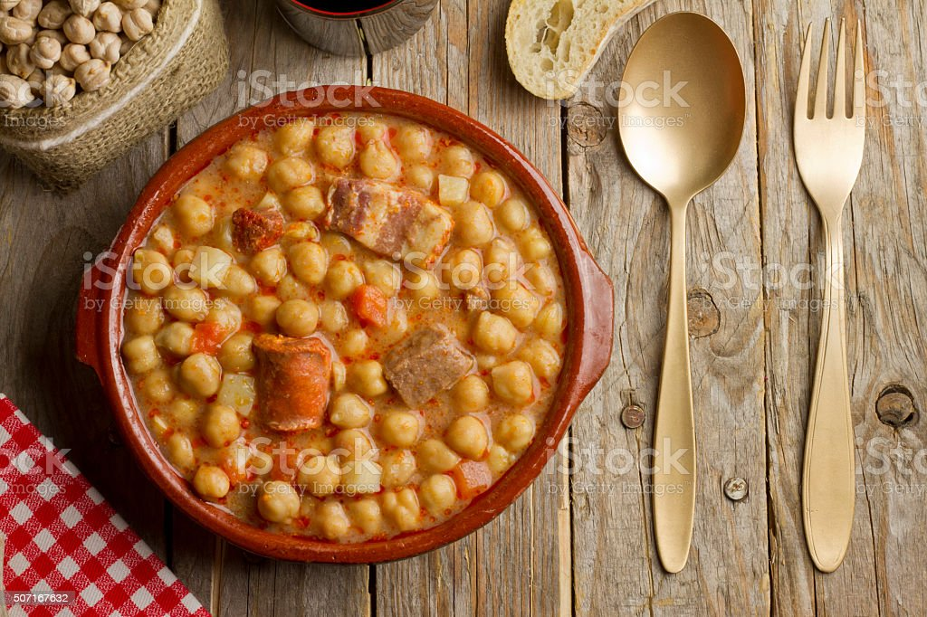 Spanish Cocido stock photo