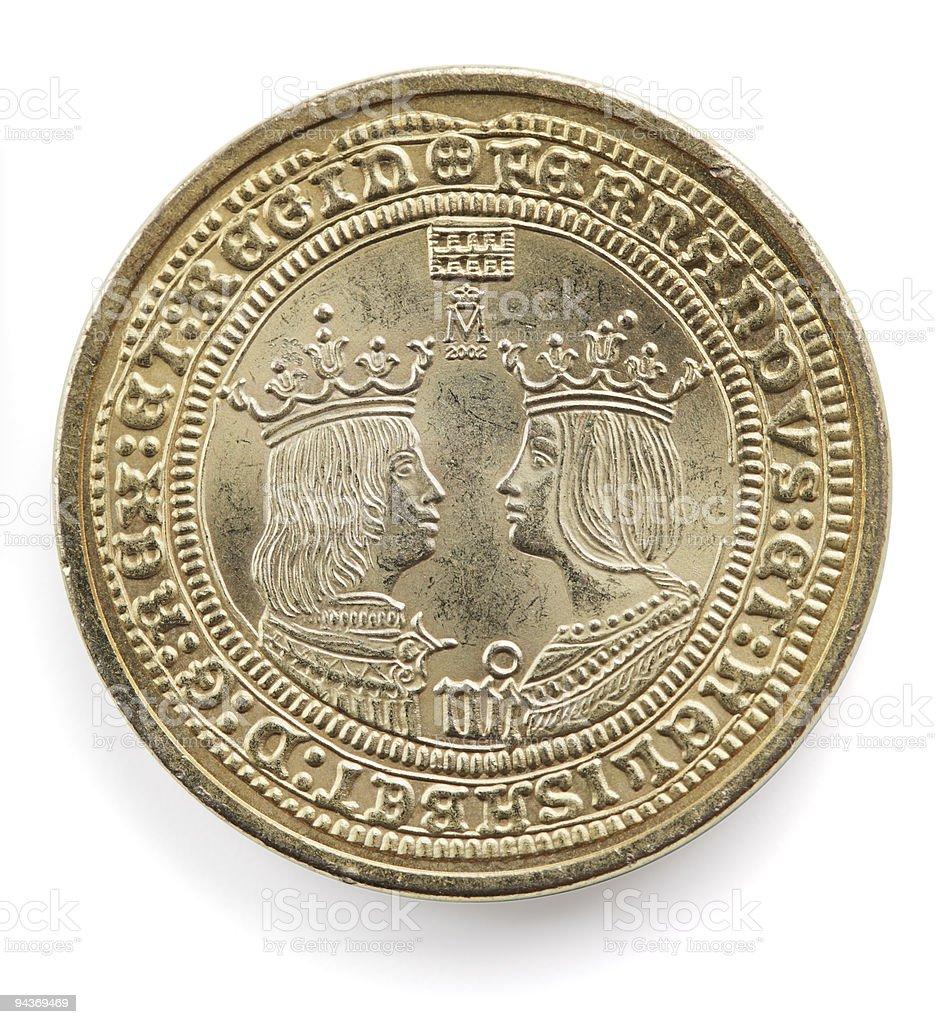 spanish coin royalty-free stock photo