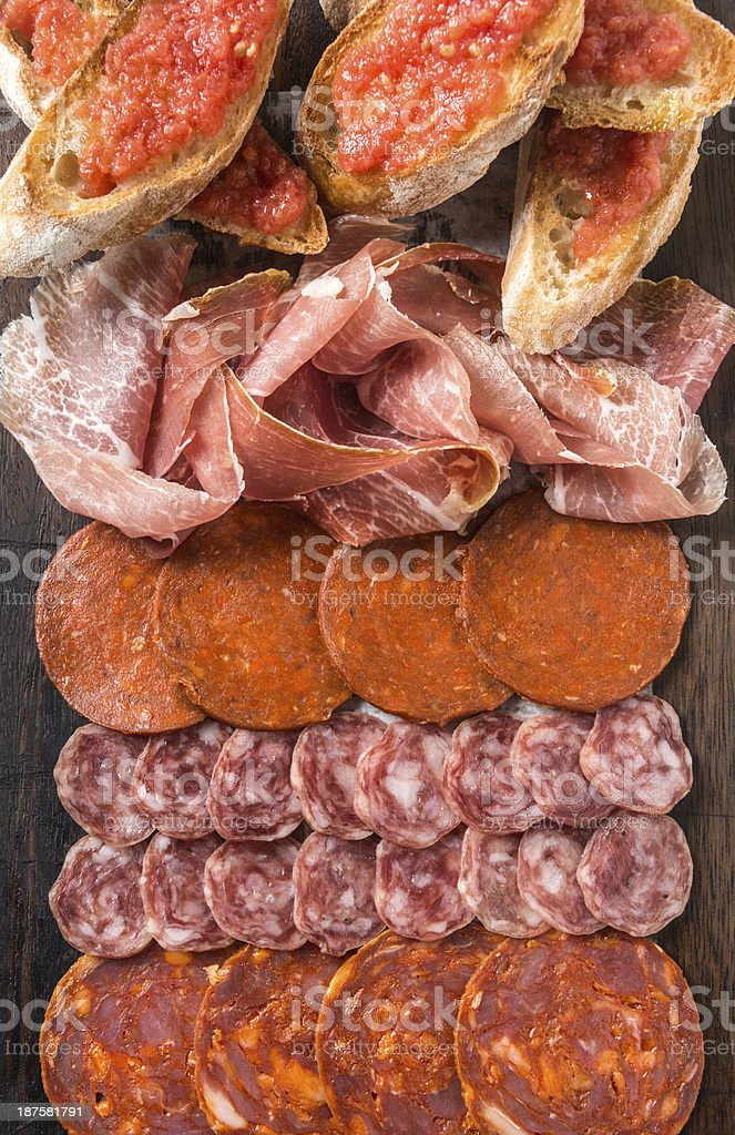 Spanish cold cuts stock photo