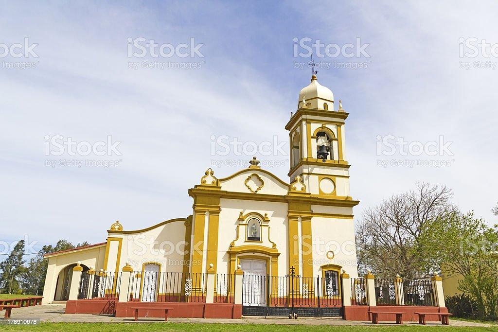 Spanish Colonial Chapel stock photo