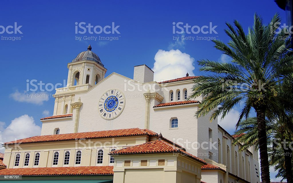 Spanish colonial style architecture stock photo