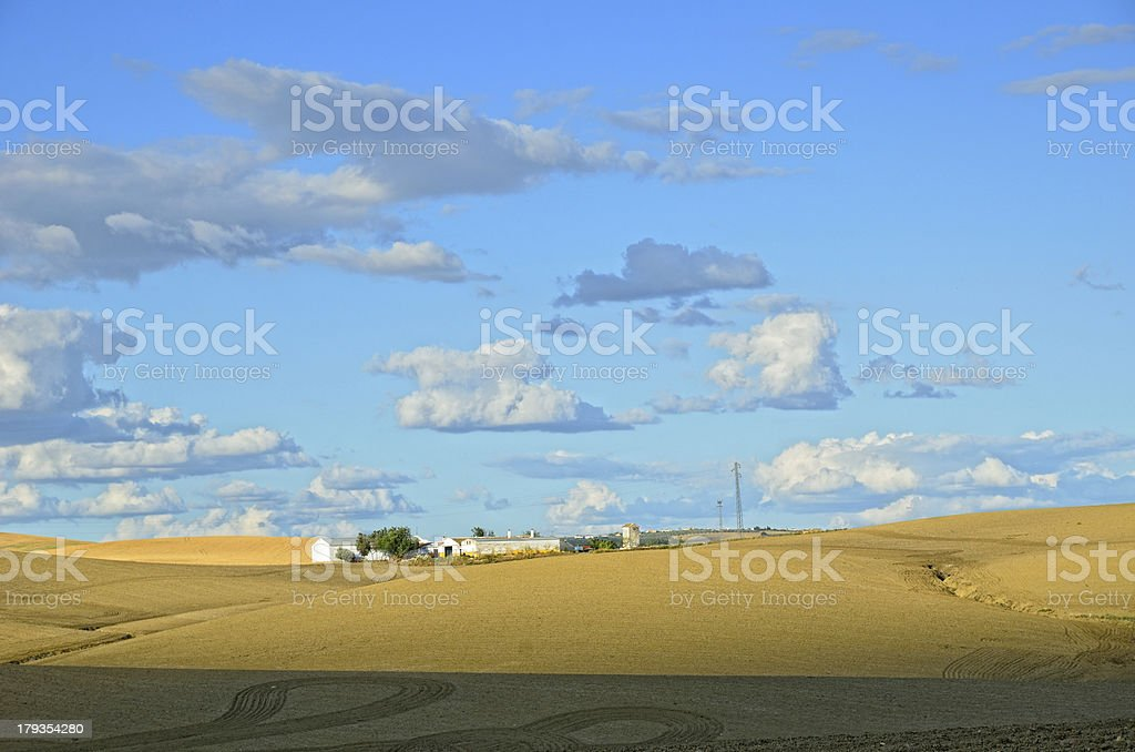 Spanish country landscape in spring royalty-free stock photo