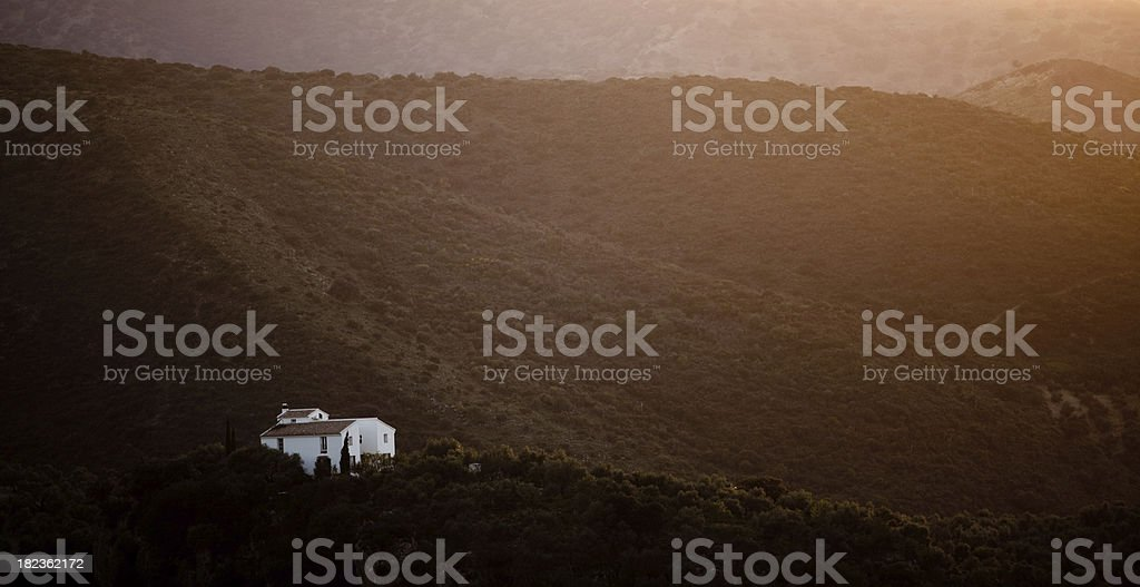 Spanish countryside and house royalty-free stock photo